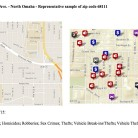 Google Map Screen Shot of Neighborhood Layout and Crime Count