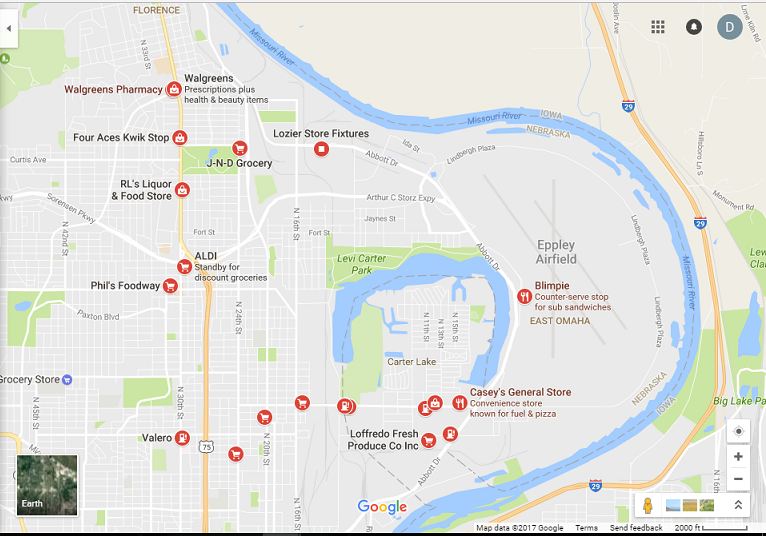 east omaha food deserts