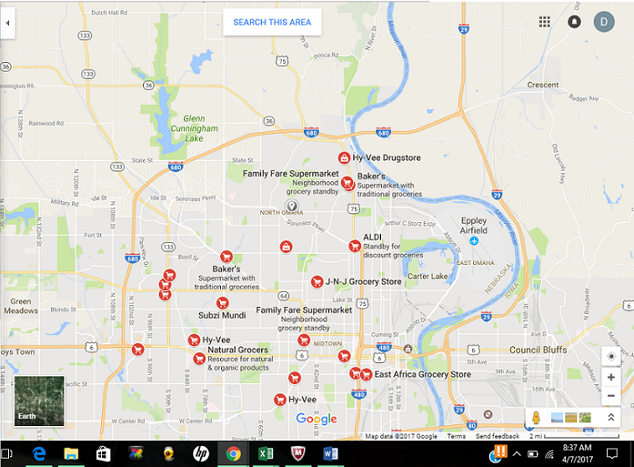 North Omaha food desert